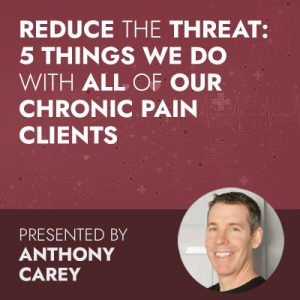 Reduce the Threat: 5 Things We Do with All of Our Chronic Pain Clients
